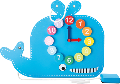 Learning Clock and Blackboard Whale