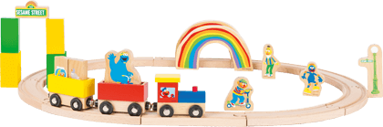 SESAME STREET Wooden Toy Train