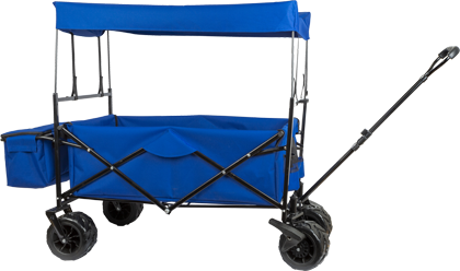 Foldable Handcart with Sun Canopy
