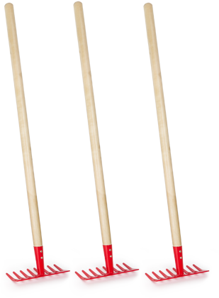 Rakes 3-Pack, red
