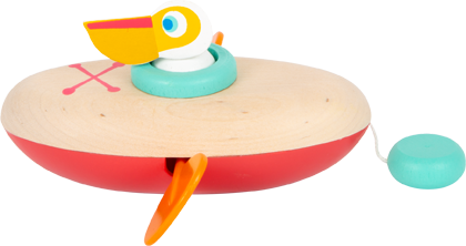 Water Toy Wind-Up Canoe Pelican