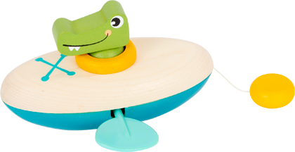 Water Toy Wind-Up Canoe Crocodile