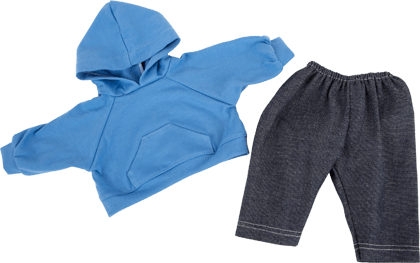 Doll's Clothes Hooded Sweatshirt and Trousers