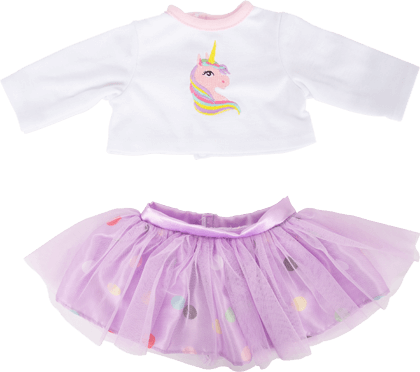 Doll's Clothes Skirt and Long-Sleeved Shirt