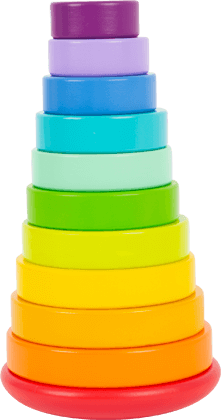 Stacking Tower, large Rainbow