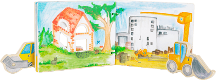 Construction Site Picture Book, interactive