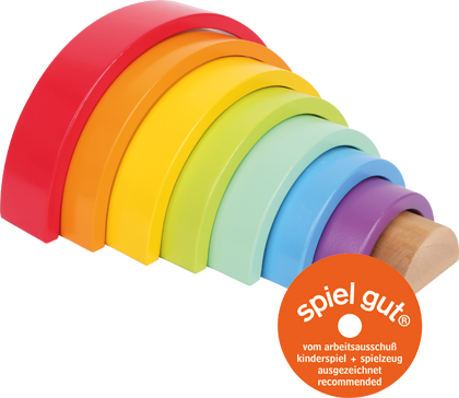 Wooden Building Blocks Large Rainbow